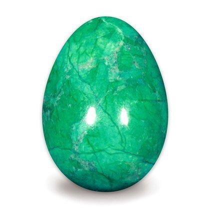 41YkWJM+QtL - Chrysokoll Howlith Kristall Ei