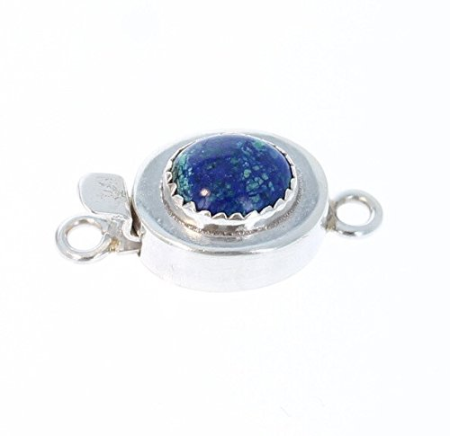 blue bird sterling azurit chrysokoll schliessen 8x10mm - Blue Bird Sterling Azurit Chrysokoll Schließen 8x10mm